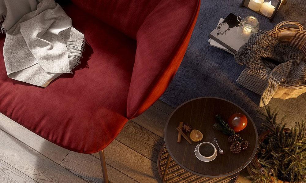 空間のカラーコーディネートに合わせて、張地は革・布・MIXからお選びいただけます。